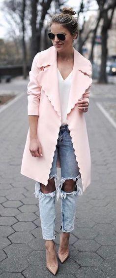 Pretty pink coat!
