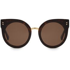 Stella McCartney Cat-eye acetate sunglasses (€175) ❤ liked on Polyvore featuring accessories, eyewear, sunglasses, glasses, tortoise sunglasses, stella mccartney sunglasses, tortoiseshell cat eye glasses, cateye sunglasses and tortoise shell sunglasses