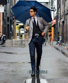 Photo (The Dapper Gentleman) Male Fashion Trends, Mens Fashion Blog, Fashion Moda, Suit Fashion, Look Fashion, Daily Fashion, Fashion Outfits, Fashion Rings, Gentleman Mode