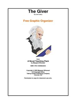 this lesson plan on the giver is perfect for middle school  the giver a graphic organizer for writing