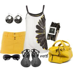YELLOW, created by michelled2711 on Polyvore
