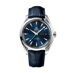 The Omega Seamaster Aqua Terra colleciton is inspired by the brand's maritime heritage. This beautiful model features a 43mm stainless steel case and deep blue Teak Concept dial with annual calendar date function, on a blue leather strap. Powered by the Omega Co-Axial calibre 8601. Model reference 231.13.43.22.03.002.
