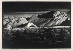 "All sizes | ""Indigo Mountains"" - Paul Landacre - Wood Engraving - 1930 