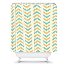 Allyson Johnson Sunshine And Mint Shower Curtain #showercurtain #shower #bathroom #bathroomdecor #decor #showerdecor #home #homedecor #style