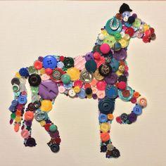 Horse button art