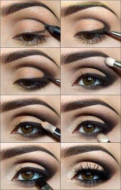 Makeup Christmas -                                                      Eye makeup...glamour