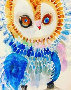 'The Flirt' - Jessie Breakwell Gallery Owl Illustration, Illustrations, Owl Artwork, Bird Artists, Reading Art, Owl Patterns, Watercolor Bird, Art Club, Halloween Art