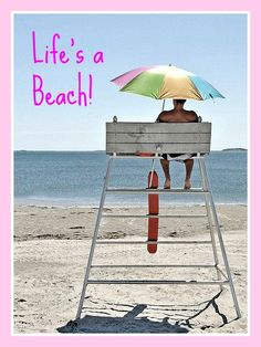 Life's a beach for the lifeguard! Photo by Renee Palermo, available here: http://divinecapture.com/divineartprints.html