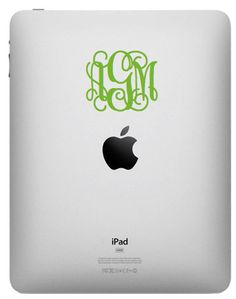 monogram your iPad with a decal....completely unnecessary...but that's half the attraction ;)
