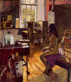 art by Kenneth Howard, ''nude in studio, series'' Traditional Paintings, Contemporary Paintings, Figure Painting, Painting & Drawing, Ken Howard, Classical Realism, Exotic Art, Artists And Models, Illustrations And Posters