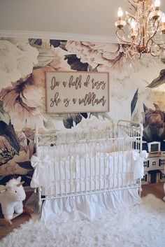 Floral Wallpaper Nursery – A Vintage Inspired Nursery. nursery focal wall, baby girl nursery nursery Floral Wallpaper Nursery - A Vintage Inspired Nursery - The Pink Dream Baby Room Design, Nursery Design, Baby Room Decor, Nursery Room, Nursery Decor, Nursery Ideas, Girl Nursery Bedding, Baby Girl Nursery Themes, Room Ideas