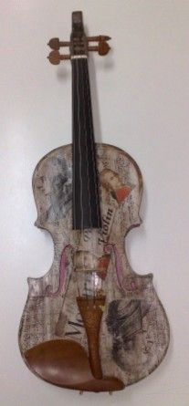 Paper violin.   Art-Eco-Art Recycled Art and Musical Instruments