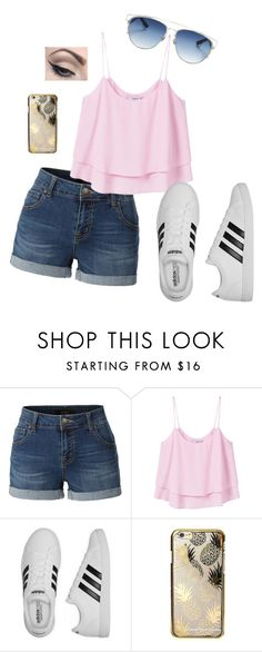 """""""Third row only"""" by frozensunset on Polyvore featuring LE3NO, MANGO, adidas, Skinnydip, Christian Dior and Mehron"""