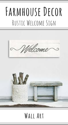 Rustic welcome decor sign | Canvas Vows #Affiliate #Decor