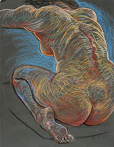 "Love the energy and line in this! ""Sacral Center"", 2010, by Fred Hatt"
