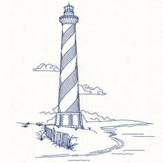 Cape Hatteras Lighthouse Coloring Page