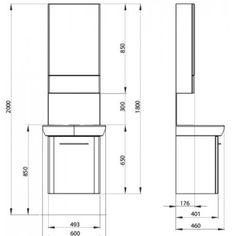 Dedeman Masca baie + lavoar + dulap cu oglinda Kolo Nova Pro M39006 + 88431, cu usi, alb, 60 cm - Dedicat planurilor tale Aradia, Nova, Floor Plans, Floor Plan Drawing, House Floor Plans