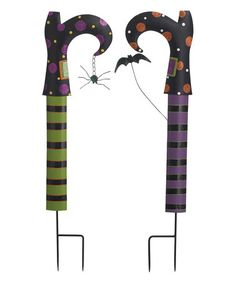 Another great find on #zulily! Metal Witch Leg Yard Stake - Set of Two #zulilyfinds