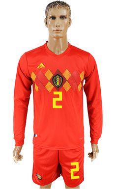 World Cup Belgium 2018 Jersey  2 Soccer Uniforms bc0119ce2