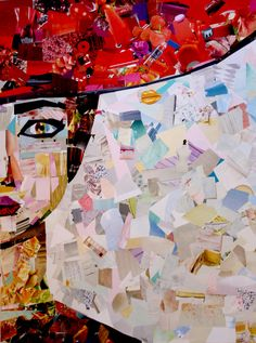 -maca art- collage portrait 50x70