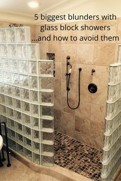 how to avoid the 5 biggest blunders with glass block showers - Bathroom Designs Using Glass Blocks