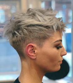 Pixie Haircut For Thick Hair, Short Hairstyles For Thick Hair, Short Pixie Haircuts, Hairstyles Haircuts, Short Hair Cuts, Curly Hair Styles, Hairstyle Short, Pixie Cuts, Haircut Short