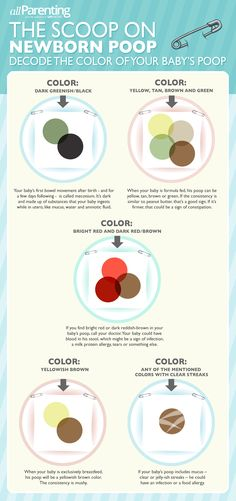 Newborn poop infographic: Decoding the color!