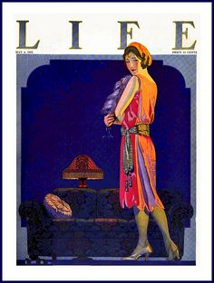 The elegant May 4, 1922 May cover of Life magazine. #vintage #1920s #magazines #fashion