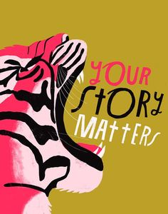 ba1eadb23fd8 Your Story Matters - Art Print