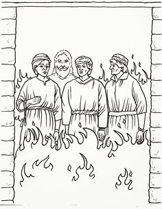 Daniel And Fiery Furnace Coloring Page
