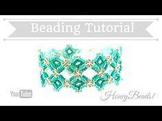 Feronia Bracelet Beading Tutorial by HoneyBeads1 - YouTube