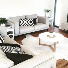 Lounge. IKEA Nockeby sofas. Freedom Furniture NZ coffee table. Taramea Passive House NZ. www.climatehouse.co.nz