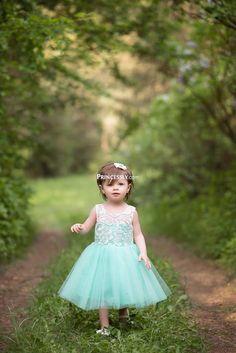 """Ivory Lace Blush Pink Tulle Flower Girl Dress"" ---- Princessly.com Customer Photos"
