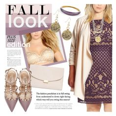 """""""Fall Look - Plus Size Edition"""" by ivansyd ❤ liked on Polyvore featuring Gabby Skye, Melissa McCarthy Seven7, Mansur Gavriel, Alexis Bittar, Valentino, Andrea, dress, plussize and plus size dresses"""