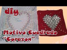 #Motivo Cuadrado Corazon de anillas #Corazon de San Valentin #Pop Tab He...