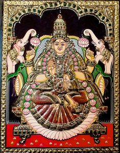 Original hand made tanjore paintings Navratri Images, Lakshmi Images, Kali Goddess, Tanjore Painting, Online Painting, Corporate Gifts, First Love, Art Gallery, Sketches