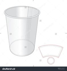 Paper Cup With Die Cut Template Stock Vector Illustration 248386594 : Shutterstock