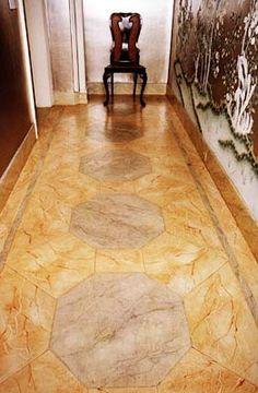 Floor painted to look like marble! Incredible. by Tania Vartan
