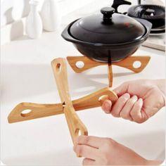 2.17AUD - Table Heat Resistant Pan Holder Mat Removable Bamboo Pot Bowl Mat Holder Fw #ebay #Home & Garden