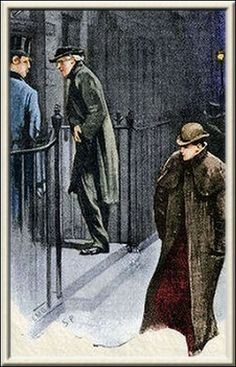 """Good night, Mister Sherlock Holmes.""  Illustration by Sidney Paget, The Strand Magazine, July 1891"
