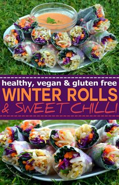 These are easy to make and are a great starter or party food. You can use any vegetables that you have about, just try to get a rainbow of colours. The crunchy raw veggies and fruit are loaded with vitamins and minerals. In the winter I like to have something like this in place of a salad as when its cold eating raw veggie can be unappealing, but this dish is very tempting in cold weather. via @nestandglow
