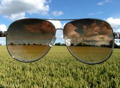 Country view sky glasses outdoors clouds country grass