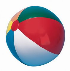 "$5.90 - 36"" Multi-Colored Beach Ball. If we like the classic beach ball colors, this is another large option. 4&3 feet sizes that match."