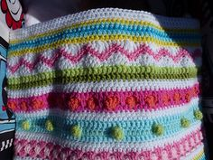 Ravelry: kerrypoos' Mixed stripey blanket