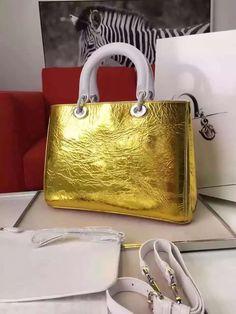 99046d410a54a Dior Medium Diorissimo Bag In Metallic Gold Leather 2016 Dior Taschen