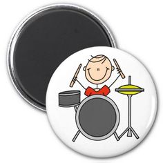 Stick Figure Drummer Magnet Magnets