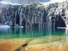 Precipice Lake lies deep in the interior of Sequoia National Park, California - High Sierra Trail