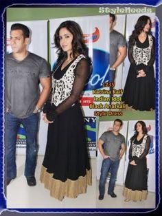 Katrina Ek tha Tiger Promo Indian Idol black Suit