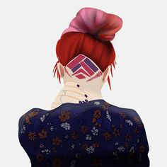 Kickass hair by @kirstiecatlady  #coolhair #colourfulhair #digitalart #art #hairstyles
