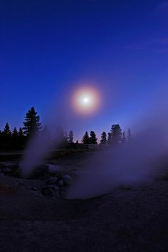 Moonlit Fumaroles (by Fort Photo)